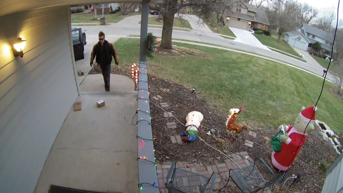 Caught on camera: Millard family says thief stole Christmas gifts off porch