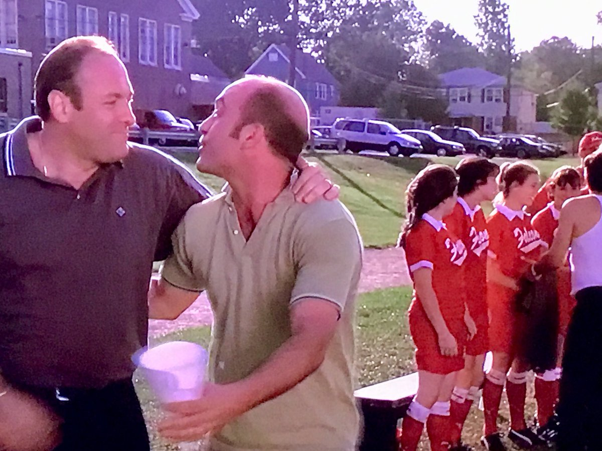 OMG, rewatching #sopranos and the soccer scenes are hilarious... https://t.co/c6uJsv7MfR