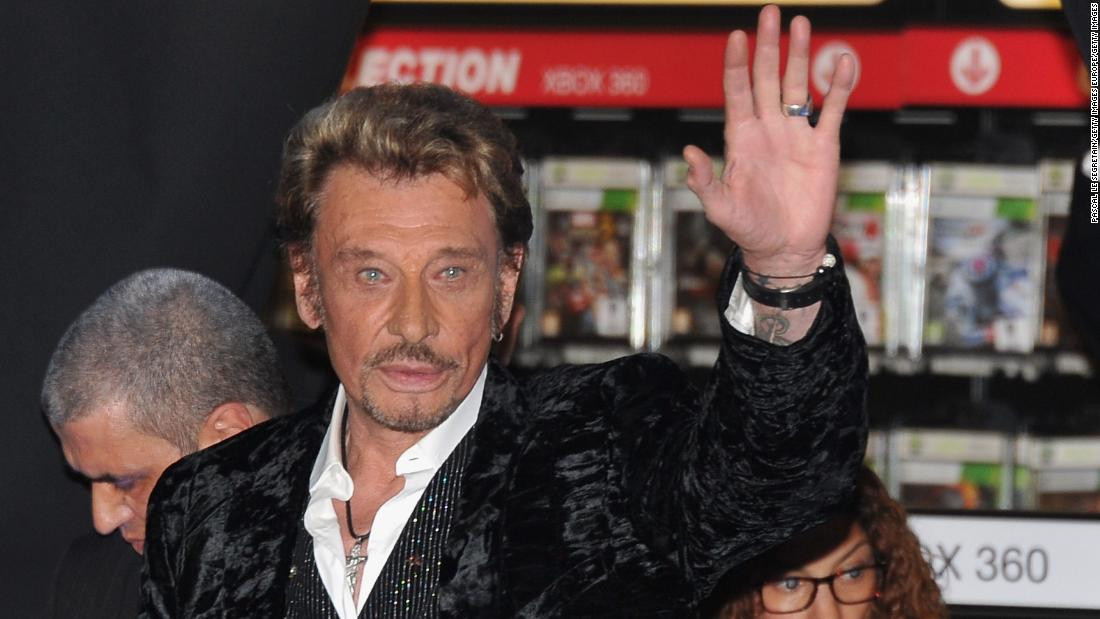 Johnny Hallyday, France's rock 'n' roll icon has died, the French president's office says