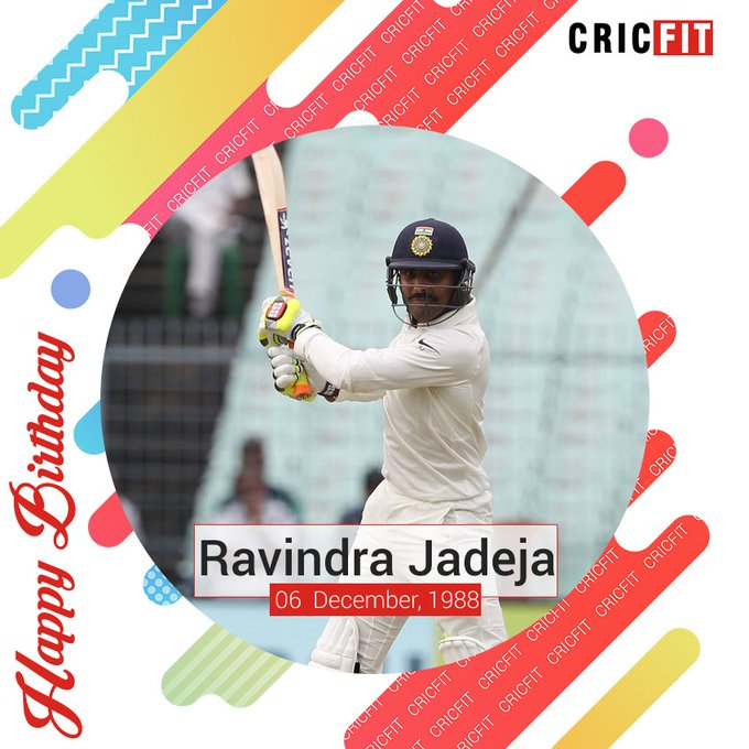 Cricfit Wishes Ravindra Jadeja a Very Happy Birthday!
