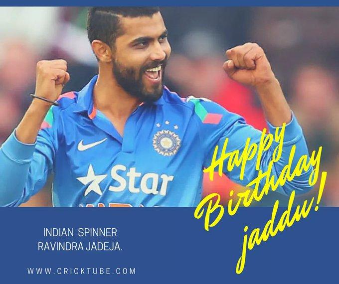 A very Happy Birthday to Indian spinner Ravindra Jadeja.