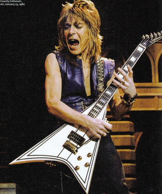 Happy birthday to the late and legendary, Randy Rhoads. Who would\ve been, 61 years old, today.
