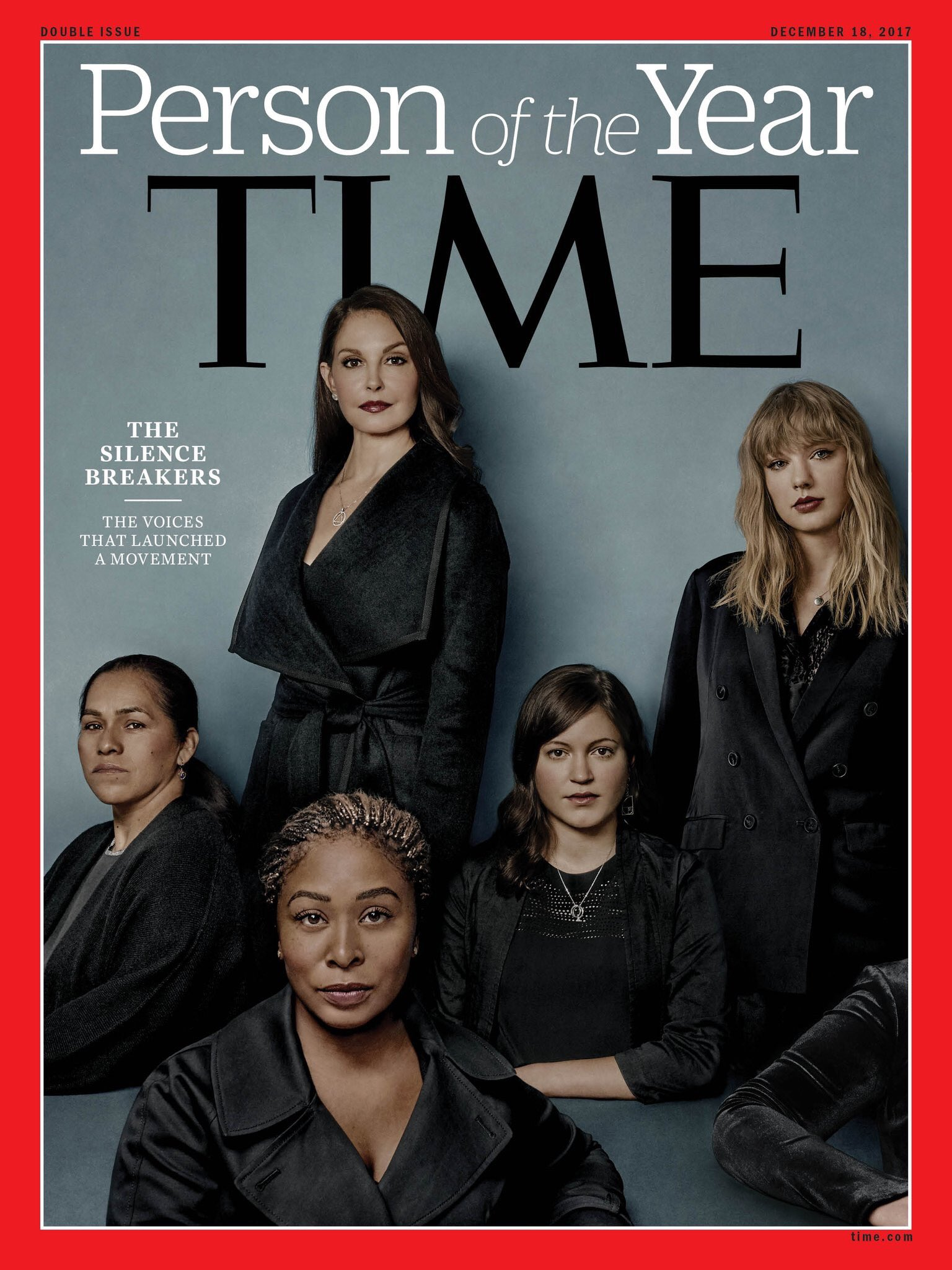 """Time magazine's Person of the Year: """"The Silence Breakers"""" https://t.co/dbGyQpJ19C"""