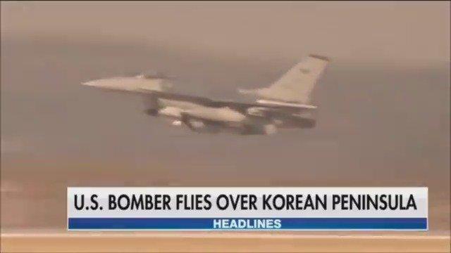 U.S. bombers fly over Korean peninsula overnight https://t.co/tweOHm5shR