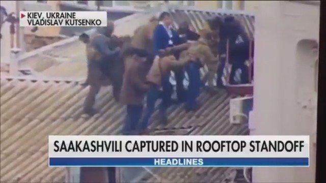 WATCH: Former Georgia president captured in rooftop standoff with Ukraine agents https://t.co/Tpn43wZden