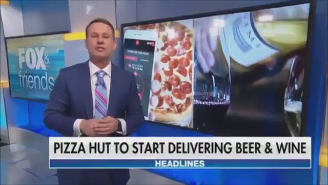 ONE STOP SHOP: Pizza Hut plans to offer beer and wine to customers within the next year https://t.co/AOhsL6vRLM