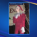 Deerfield's beloved elf, Zippy, found outside home