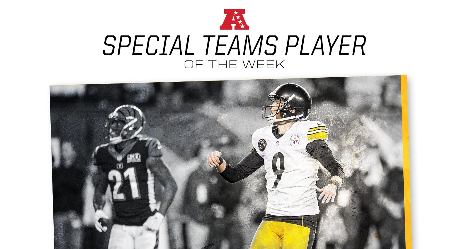 Chris Boswell has been named AFC Special Teams Player of the Week.  MORE: https://t.co/Odre1i43ET https://t.co/LN4gDXupi3