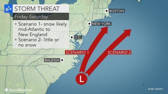 Snow showers possible this weekend as temperatures plummet