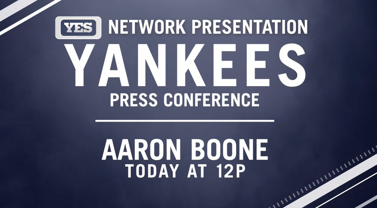 RT @YESNetwork: #BooneAtNoon: Don't miss the new @Yankees manager being introduced today on YES. https://t.co/ScHASdWkiY
