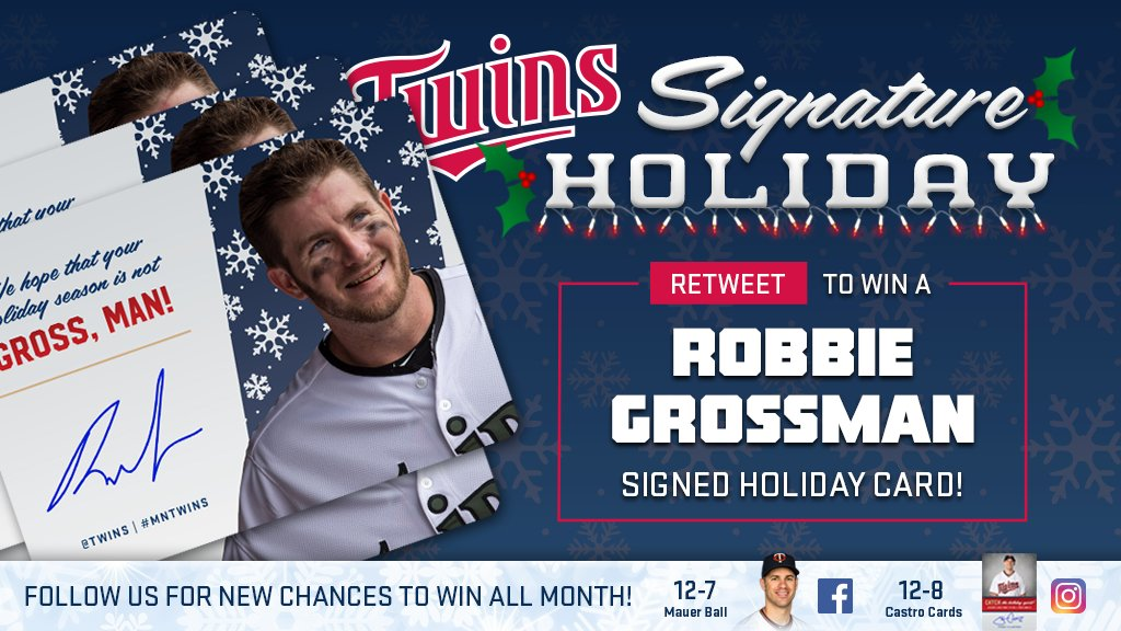 RT for a chance to win a Robbie Grossman signed holiday card! #SignatureHoliday https://t.co/YjNptVGlGJ https://t.co/iCRTWvxxqV