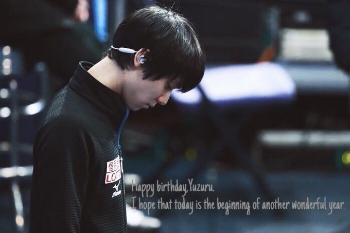 Happy birthday, Yuzuru Hanyu