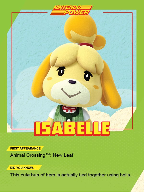 Isabelle is your go-to for help on shaping up your town. #AnimalCrossing #NintendoPower https://t.co/MkfsQZNtD0