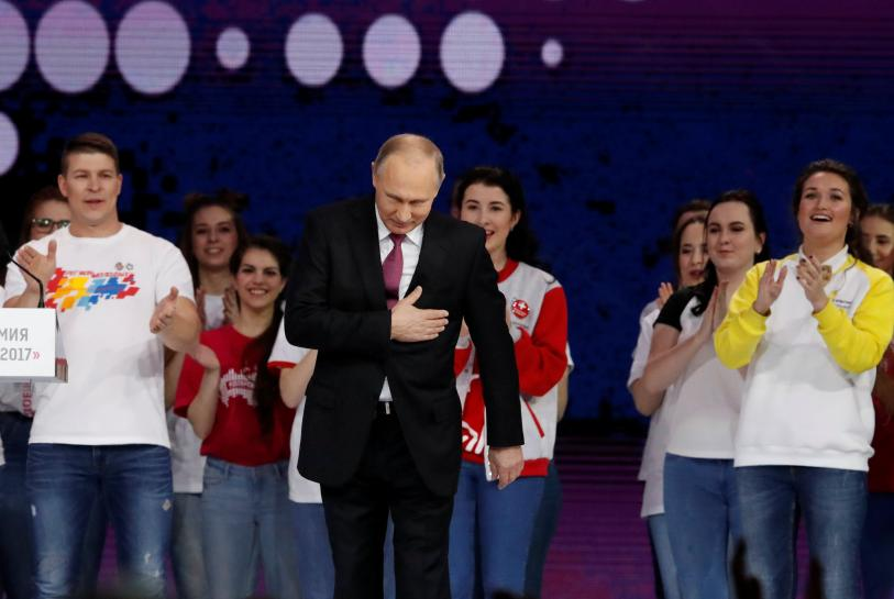Russia's Putin, pulling no surprises, says he'll seek re-election
