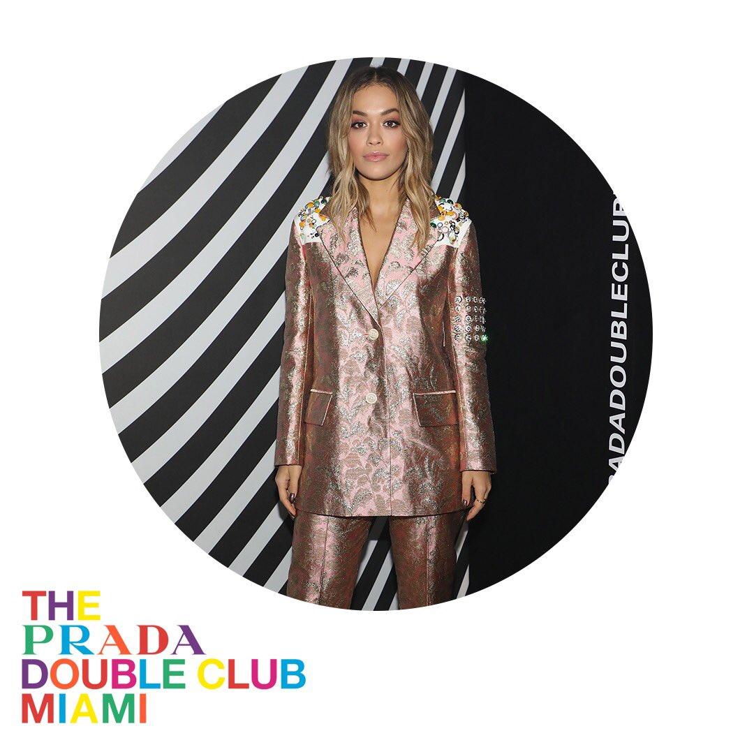 RT @Prada: .@RitaOra wears #Prada while attending #ThePradaDoubleClubMiami during #ArtBaselMiami. https://t.co/FRgkpIvYGz