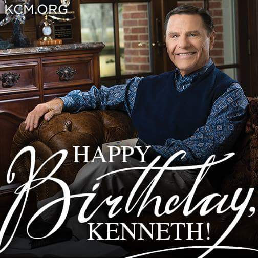 HAPPY BIRTHDAY  Dr Kenneth Copeland!  God bless you!