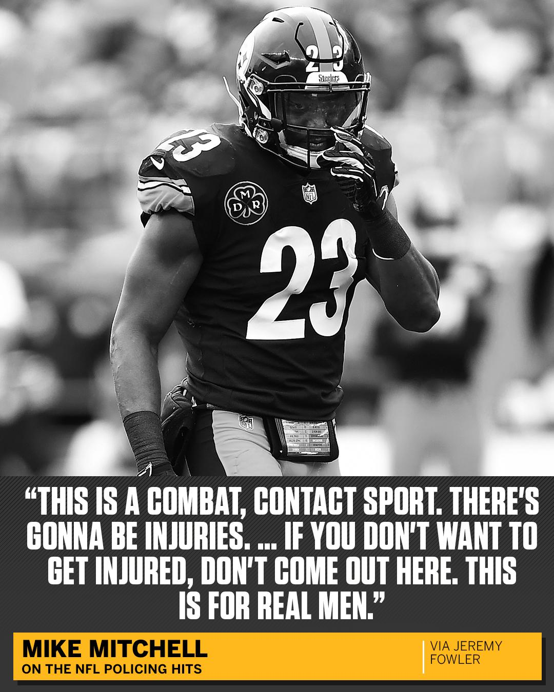 Mike Mitchell didn't hold back when asked about the NFL cracking down on hits. https://t.co/87dBoSKfyZ