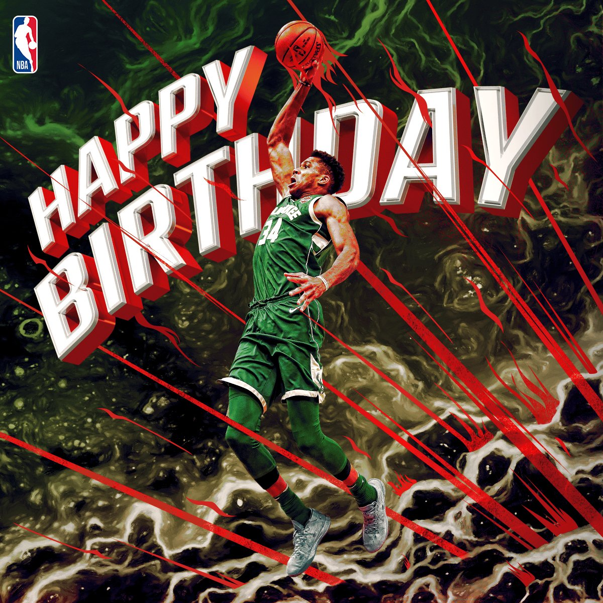 Join us in wishing Giannis Antetokounmpo a Happy 23rd Birthday!