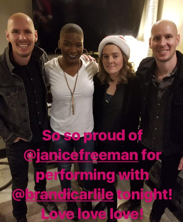 So so proud of @janice_freeman for performing with @brandicarlile tonight! Love love love! https://t.co/D5stzvDnjI
