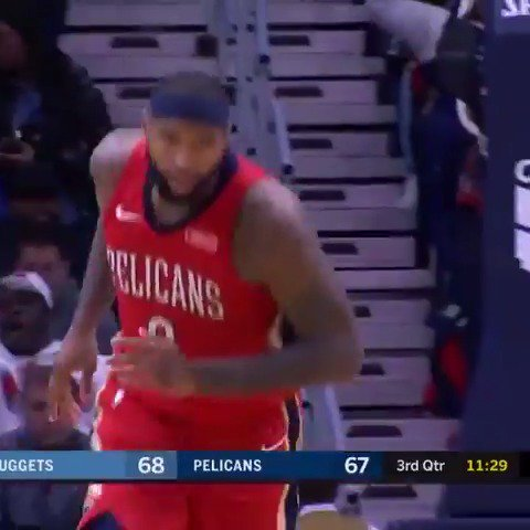 A monster stat line from Boogie in the @PelicansNBA home win:  40 PTS - 22 REBS - 4 BLKS  #DoItBig https://t.co/4r3892MP7d
