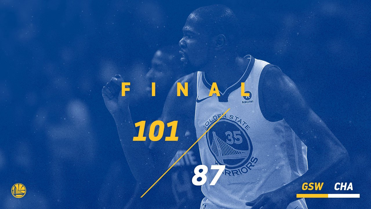 Now 5-0 on the road trip �� #DubNation https://t.co/MyU1W7dPxJ