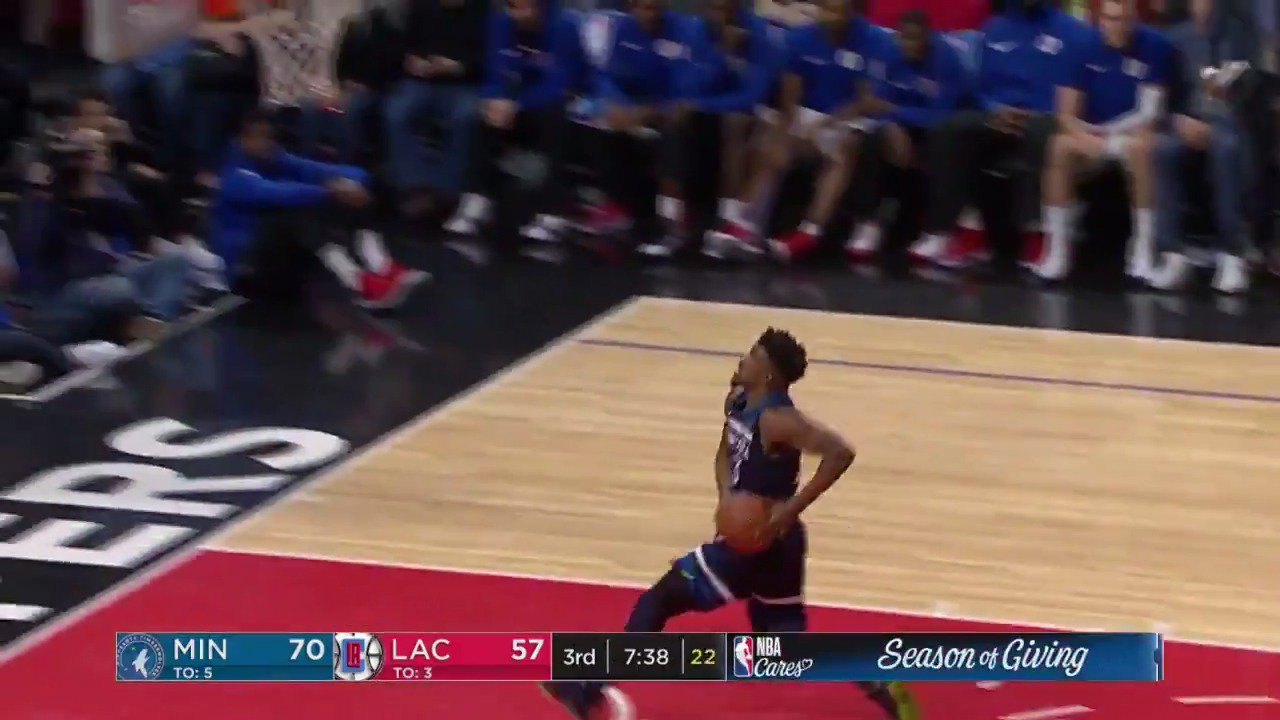 The @Timberwolves turning defense into offense on ESPN! #AllEyesNorth https://t.co/qxHiN2bpHm