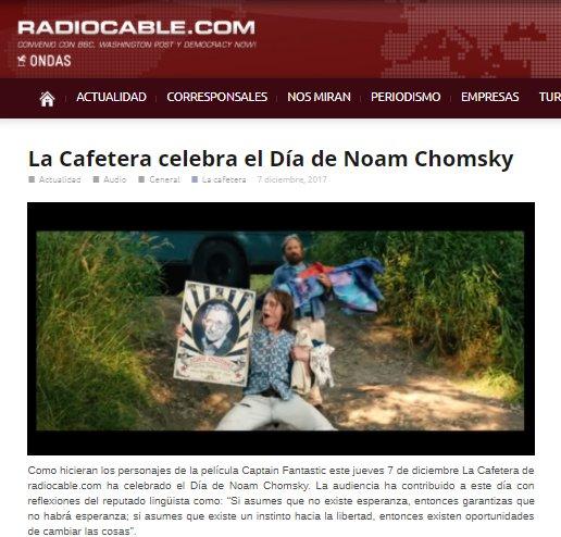 RT @radiocablecom: La Cafetera celebra el Día de Noam Chomsky https://t.co/WJzw5vCfmi #LaCafeteraFelizDiaNoamChomsky https://t.co/yr3UmpeT2r