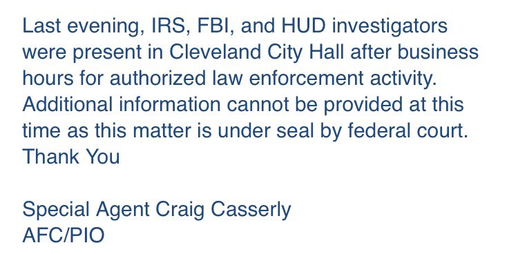 What we know about a federal r cleveland city hall