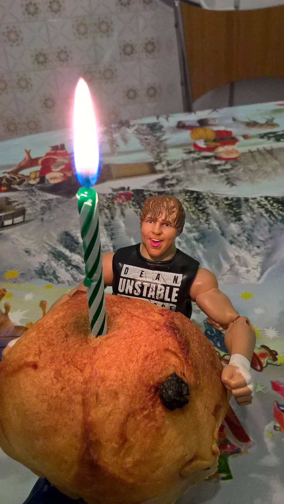 "Happy Birthday to my favorite "" Human Dude\"" Dean Ambrose   Have a nice day"