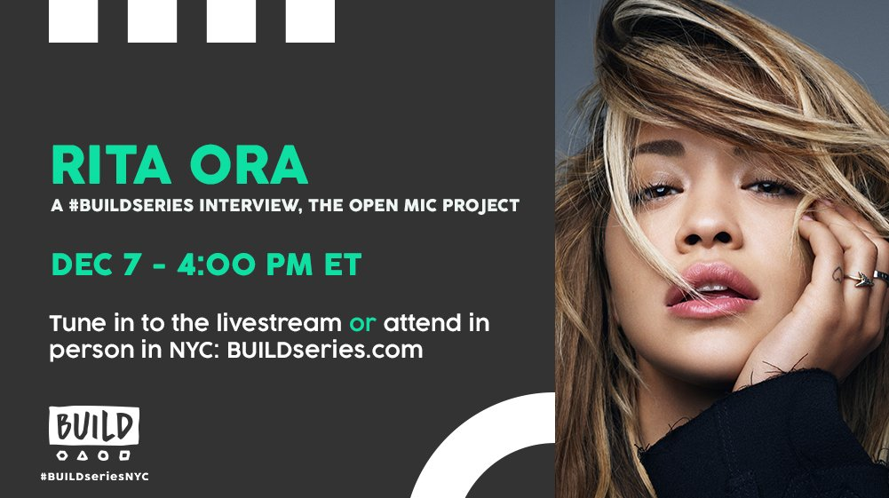 RT @BUILDseriesNYC: Check out our interview with @RitaOra live at 4PM ET on https://t.co/M8xULp80xC: https://t.co/2FOr7BHKMi