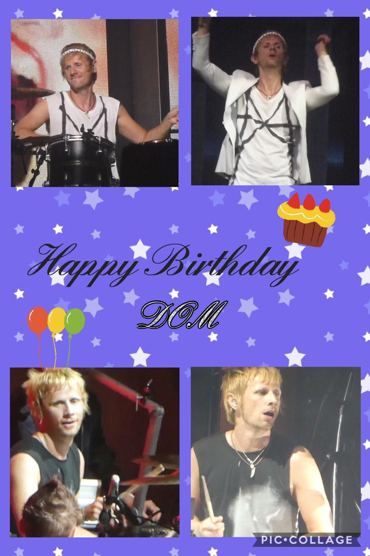 Happy Birthday Dom   Wishing you many, many more happiness!!