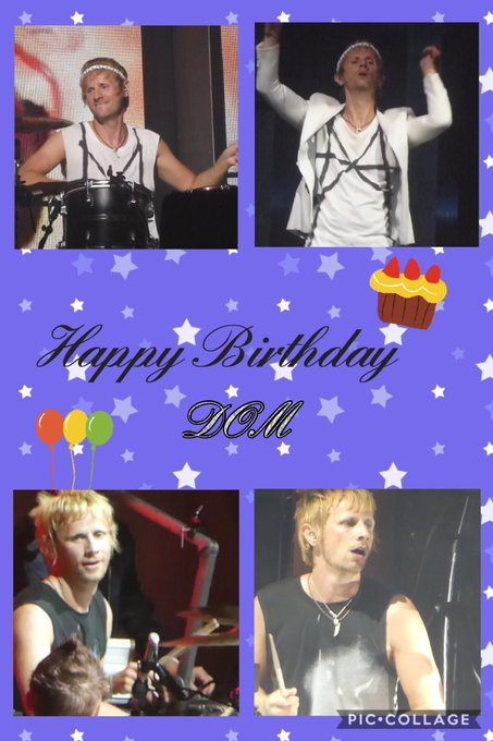 Happy Birthday Dom   Wishing you many, many more happiness!!
