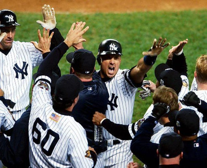 TBT Tino ties the game in the 2001 World Series , Happy birthday Tino Martinez