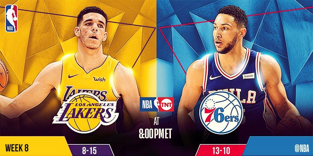 Tonight's @NBAonTNT action features...  8pm/et: @Lakers x @Sixers   10:30pm/et: @HoustonRockets x @utahjazz https://t.co/1ifhKcFURm
