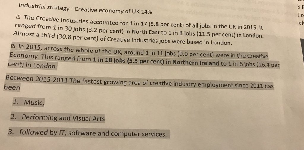 test Twitter Media - @Glenravel @Gerard_mcc @ClaireHanna @mikenesbittni @StephenFarryMLA @ArtsCouncilNI @theatre_ni We have been telling politicians for decades. Those attending today get it. Others may not.  Here are some headlines (in pic) related to #CreativeEconomy  We have 5.5k jobs in Arts actor alone. Social return of arts is even higher than fiscal return. #artsmatterni https://t.co/NJWFB1rkA1