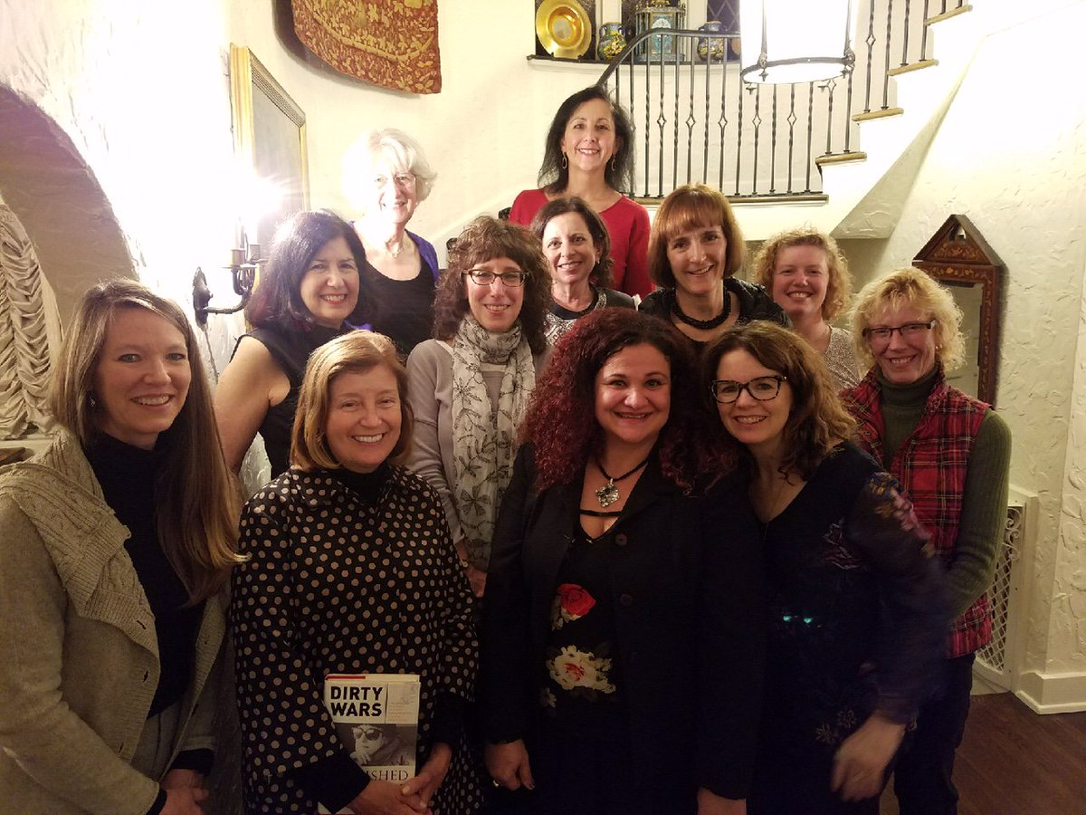 test Twitter Media - Honored to host Lynda Schuster (2nd row, 2nd from l), author of Dirty Wars and Polished Silver at Getting to the Point's Book Club. Lynda is a former Wall St. Journal  War Correspondent turned Ambassatrix.  #LyndaSchuster #ellenrothauthor https://t.co/KJtlHFhFkg