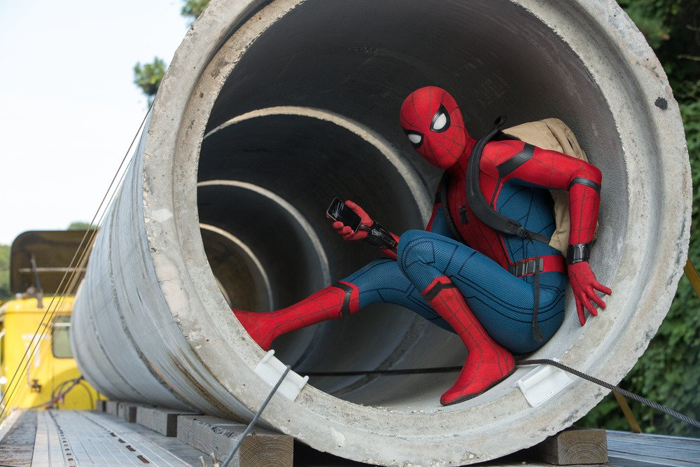 Who you gonna call? #SpiderManHomecoming https://t.co/XLzmZWGATX