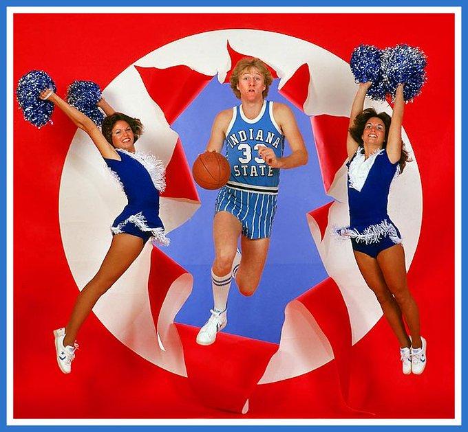 Happy 61st Birthday Larry Bird! ~ Classic Indiana State powder blue uniform
