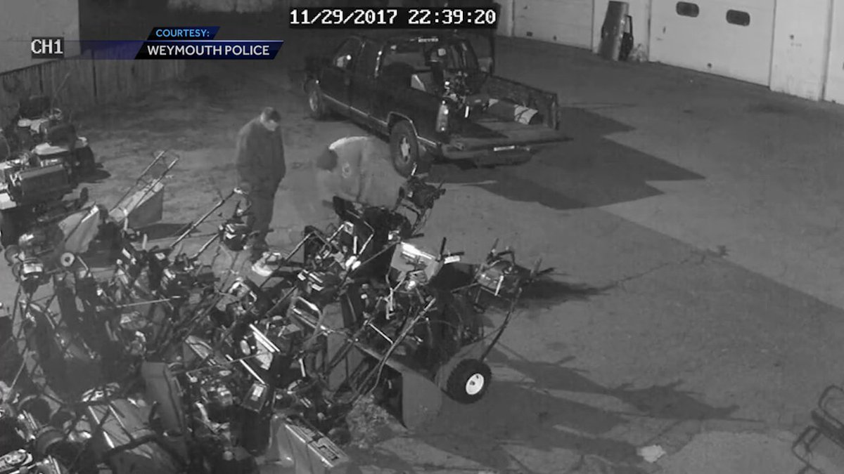 Police searching for snow blower thieves