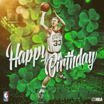 Happy Birthday to the legend! Larry Bird!