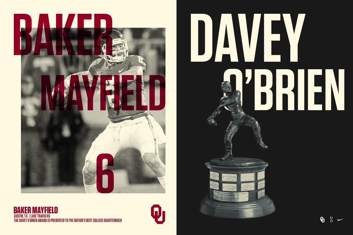 Baker Mayfield had a decent we davey o'brien award