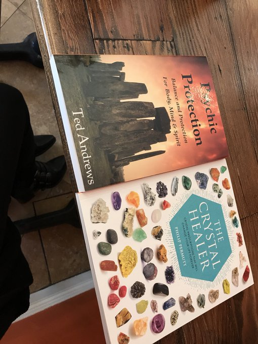 One more hour till I can see the doctor 😪 but I did get some new books & crystals ☺️ https://t.co/M6