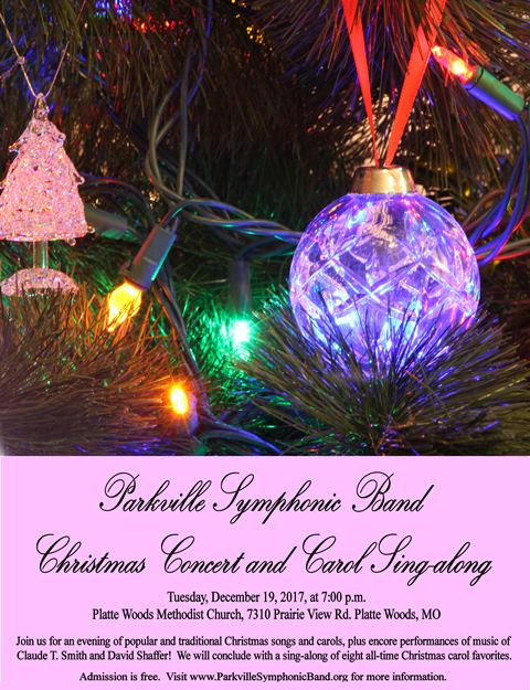 test Twitter Media - Save the date! The Parkville Symphonic Band's Christmas Concert & Carol Sing-along will be Tuesday, December19th at 7pm at the Platte Woods Methodist Church. https://t.co/oBFqAGUwNR