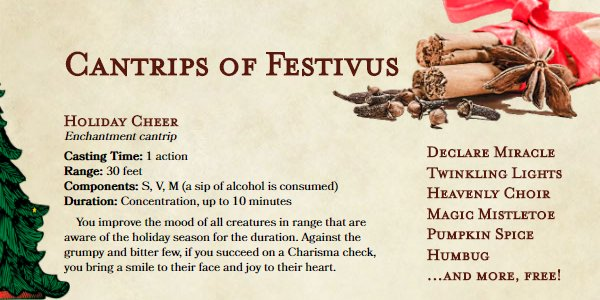 Add some magic to your #DnD one-shot this #Christmas holiday. https://t.co/eecruwxFwq https://t.co/nfFy04JSKR