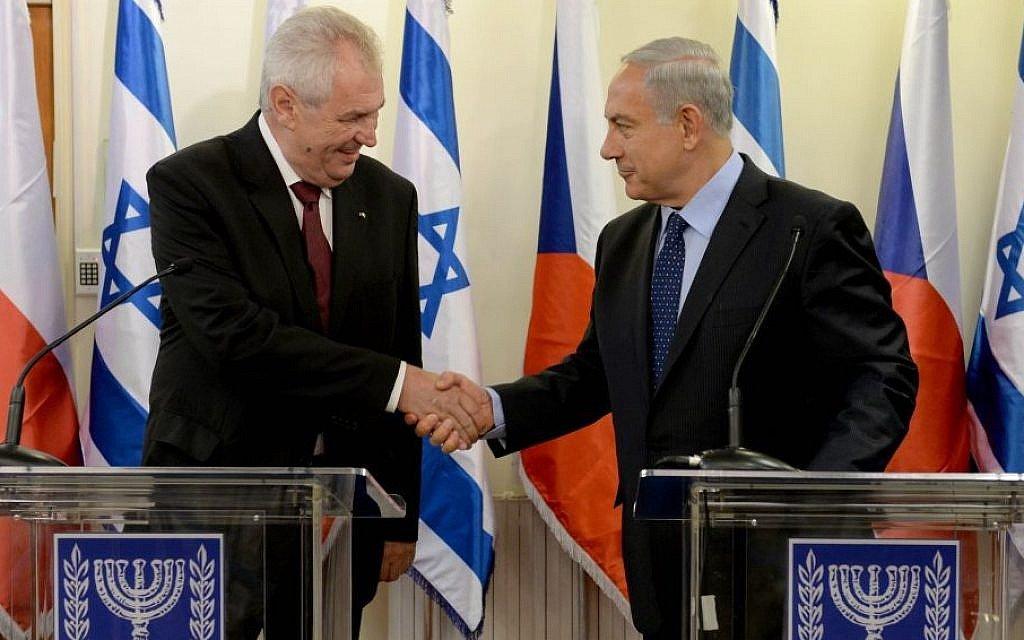 Czech president wants to follow US on Jerusalem embassy move