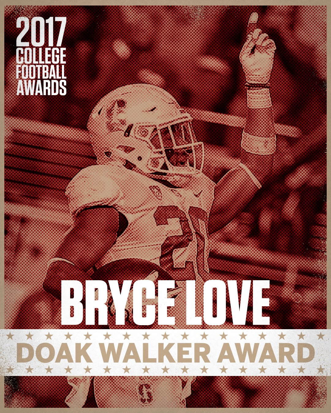 Stanford's Bryce Love wins the Doak Walker Award as the nation's top running back. https://t.co/U9wPE62WZl