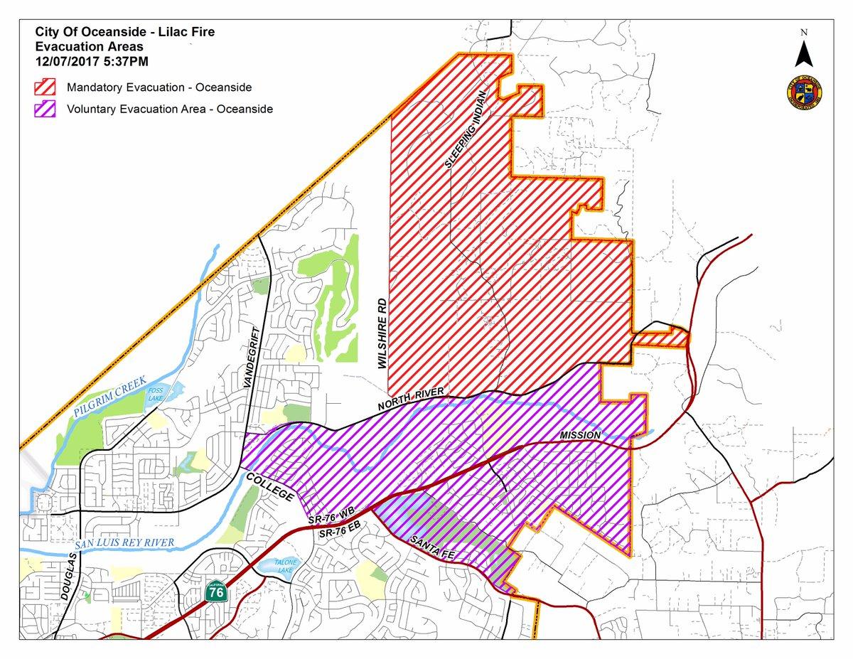 Lilac Fire Update Cal Fire >> Location