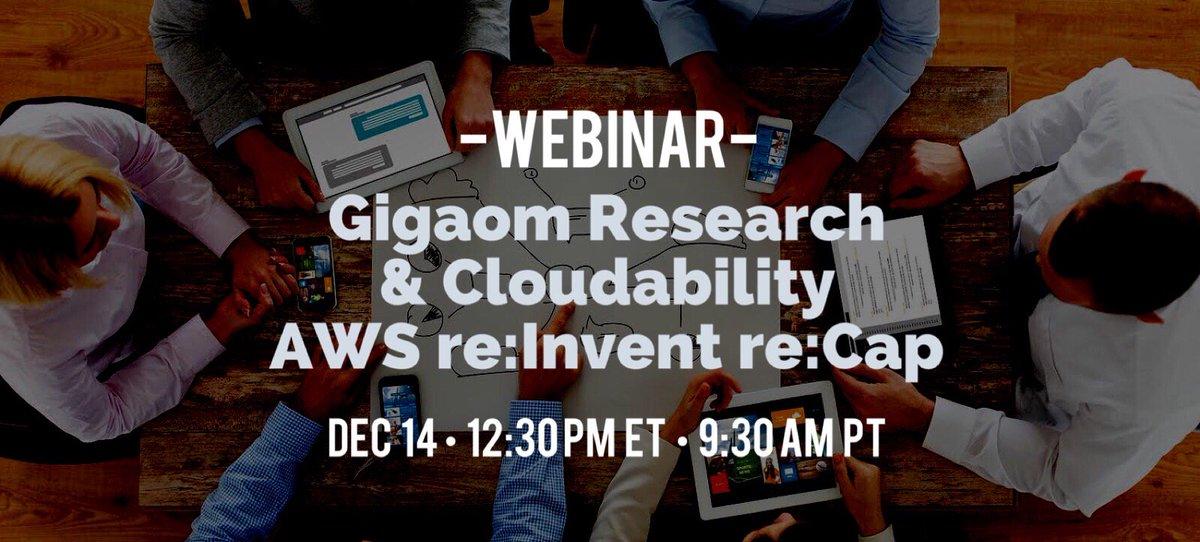 test Twitter Media - [FREE WEBINAR 12/14] Join Gigaom and @Cloudability for a recap of what this year's top insights from #AWS re:Invent mean to enterprise, startups and the #cloud industry. Sign up now: https://t.co/C7uuogXizN #AWSreinvent2017 #reinvent2017 #sponsored #cloudability https://t.co/gfCItOeod5