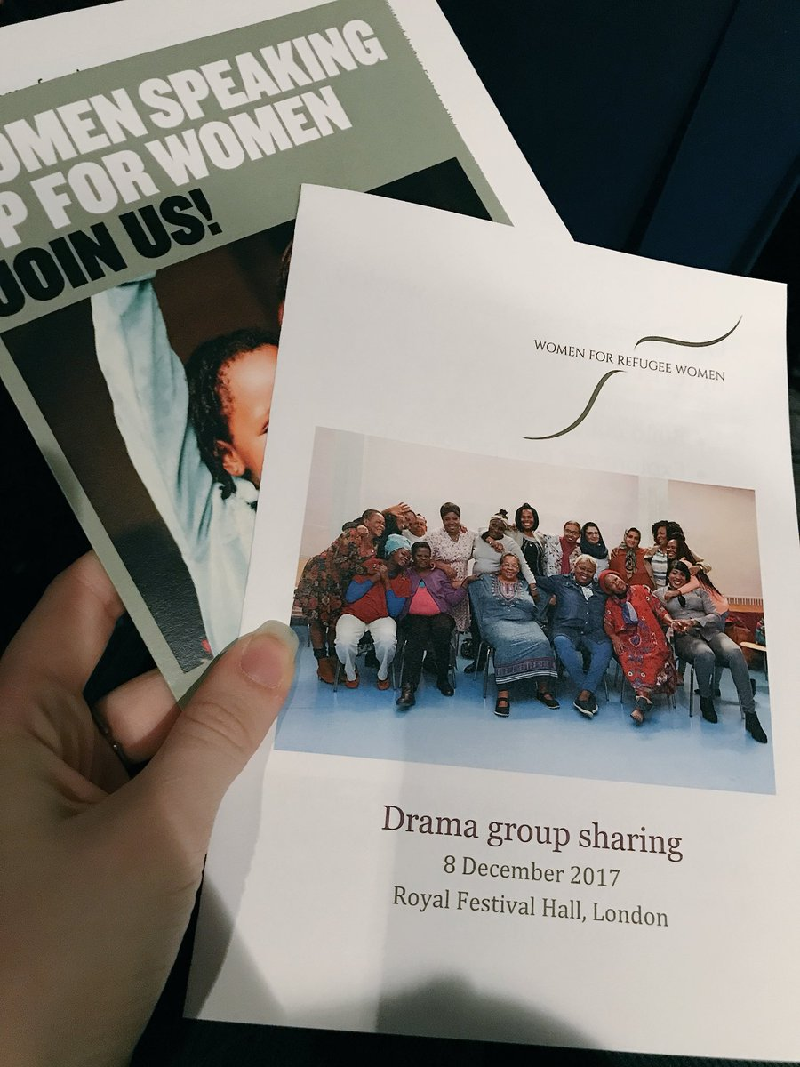 Thanks to @4refugeewomen for a brilliant lunch time sharing by their drama group @southbankcentre! https://t.co/2hL12FHeNG