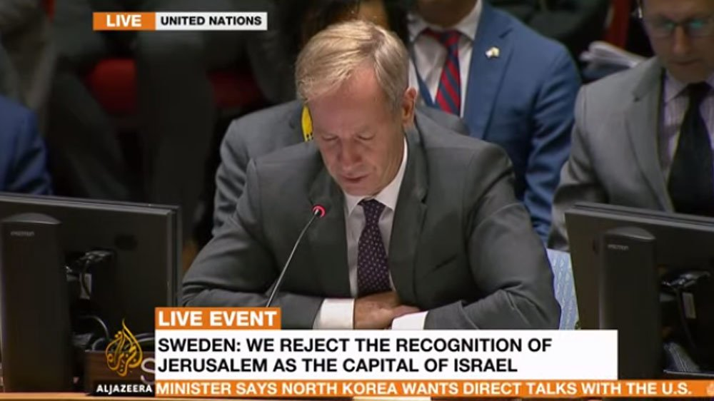 UPDATE: Sweden says it rejects the recognition of Jerusalem as the capital of Israel